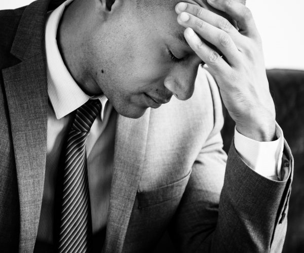 A businessman suffering from fatigue